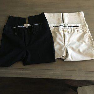 2 Banana Republic Martin Fit Crop Pants  size 10